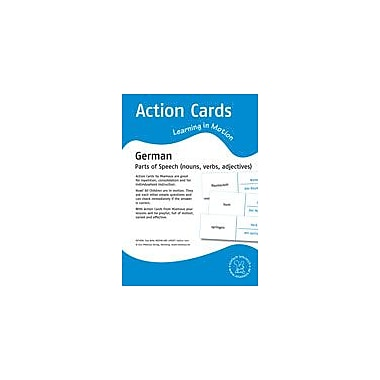 Miamaus Verlag Publishing Action Cards, Learning In Motion German: Parts of Speech Workbook, Grade 2 - Grade 4 [eBook]