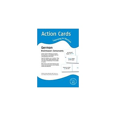 Miamaus Verlag Publishing Action Cards, Learning In Motion German: Brainteaser: Consonants Workbook, Grade 1 - Grade 2 [eBook]