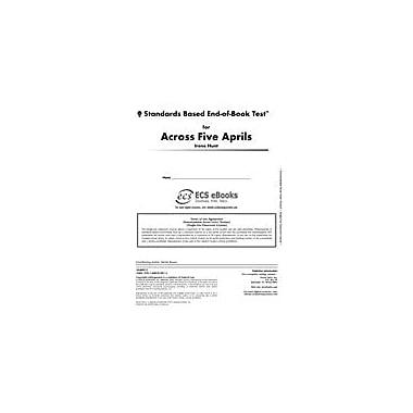 Novel Units Standards Based End-Of-Book Test for Across Five Aprils Language Arts Workbook, Grade 7 - Grade 8 [eBook]