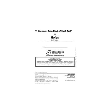 Novel Units Standards Based End-Of-Book Test for Holes Language Arts Workbook, Grade 7 - Grade 8 [eBook]