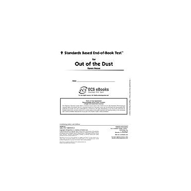 Novel Units Standards Based End-Of-Book Test for Out of the Dust Language Arts Workbook, Grade 7 - Grade 8 [eBook]