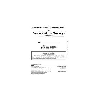 Novel Units Standards Based End-Of-Book Test for Summer of the Monkeys Language Arts Workbook, Grade 5 - Grade 6 [eBook]