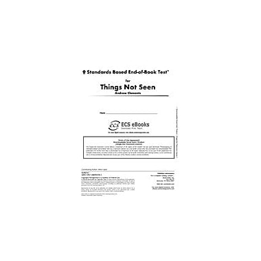 Novel Units Standards Based End-Of-Book Test for Things Not Seen Language Arts Workbook, Grade 7 - Grade 8 [eBook]