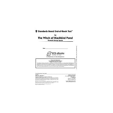 Novel Units Standards Based End-Of-Book Test for the Witch of Blackbird Pond Language Arts Workbook, Grade 7 - Grade 8 [eBook]