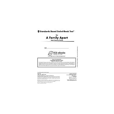 Novel Units Standards Based End-Of-Book Test for A Family Apart Language Arts Workbook, Grade 5 - Grade 6 [eBook]
