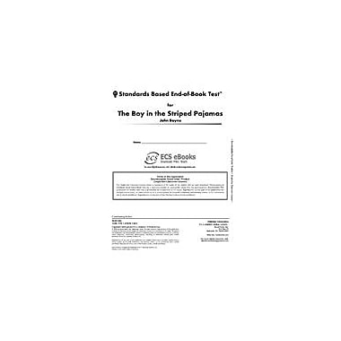 Novel Units Standards Based End-Of-Book Test for the Boy In the Striped Pajamas Workbook, Grade 7 - Grade 8 [eBook]