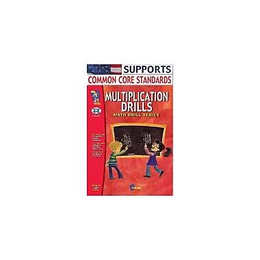 On The Mark Press Multiplication Drills Math Workbook, Grade 4 - Grade 6 [eBook]