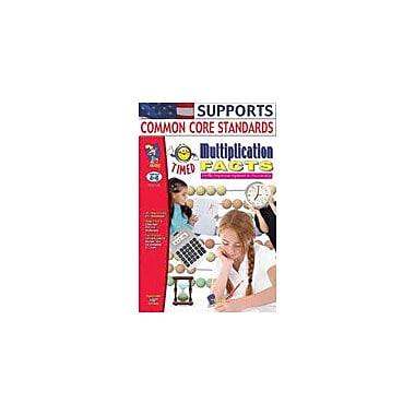 On The Mark Press Timed Multiplication Facts Math Workbook, Grade 4 - Grade 6 [eBook]