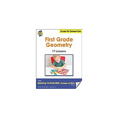 On The Mark Press First Grade Geometry Lesson For Common Core Math Workbook, Grade 1 [eBook]