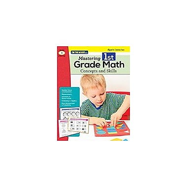 On The Mark Press Mastering First Grade Math: Concepts & Skills Aligned to Common Core Math Workbook, Grade 1 [eBook]