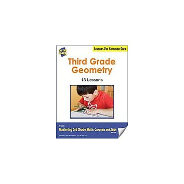 On The Mark Press Third Grade Geometry Lesson for Common Core Math Workbook, Grade 3 [eBook]