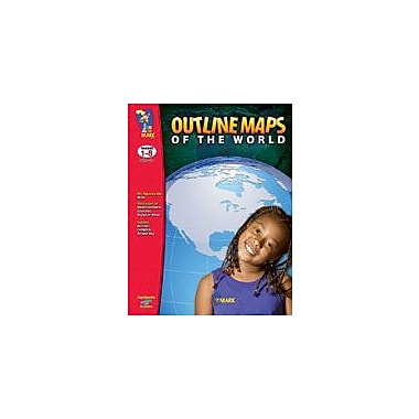 On The Mark Press Outline Maps of the World Social Studies Workbook, Grade 1 - Grade 8 [eBook]
