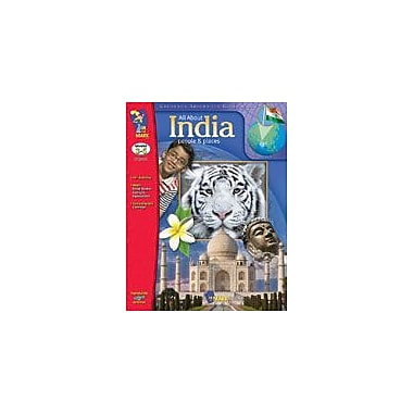 On The Mark Press All About India Geography Workbook, Grade 3 - Grade 5 [Enhanced eBook]