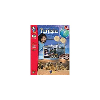 On The Mark Press All About Tunisia Geography Workbook, Grade 3 - Grade 5 [eBook]