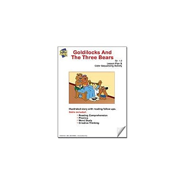 On The Mark Press Goldilocks and the Three Bears Lesson Plan and Color Sequencing Activity Workbook, Grade 1 - Grade 3 [eBook]