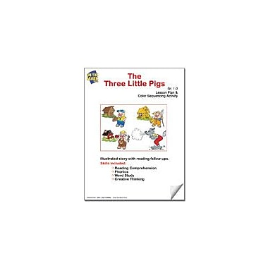 On The Mark Press The Three Little Pigs Lesson Plan and Color Sequencing Activity Workbook, Grade 1 - Grade 3 [eBook]