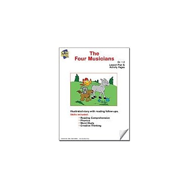On The Mark Press The Four Musicians Lesson Plan Reading & Writing Workbook, Grade 1 - Grade 3 [eBook]
