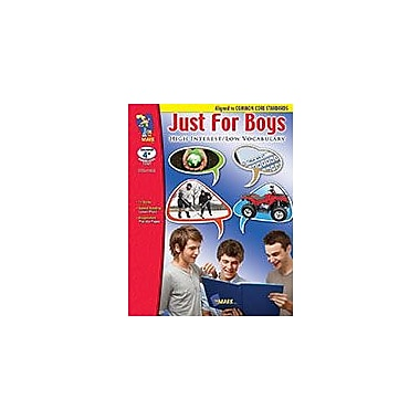 On The Mark Press Just For Boys, High Interest/Low Vocabulary Aligned to Common Core Workbook, Grade 4 - Grade 9 [eBook]