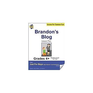 On The Mark Press Brandon's Blog (Fiction, Recount Writing) Grade Level 1.9 Aligned to Common Core E-Lesson Plan [eBook]