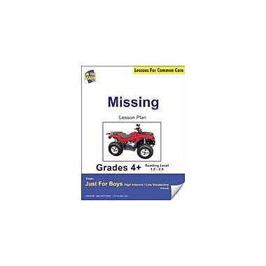 On The Mark Press Missing (Fiction, Narrative Mystery) Grade Level 1.8 Aligned to Common Core E-Lesson Plan Workbook [eBook]