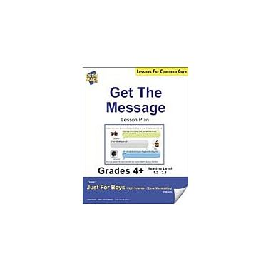 On The Mark Press Get the Message (Fiction, Instant Message Style) Grade Level 1.5 Aligned to Common Core E-Lesson Plan [eBook]