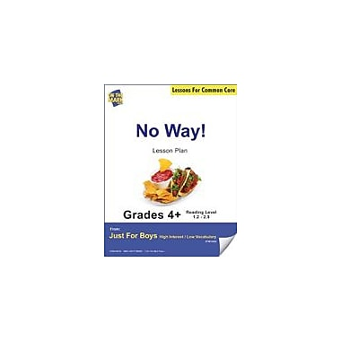 On The Mark Press No Way! (Non-Fiction, Report) Grade Level 2.4 Aligned to Common Core E-Lesson Plan Workbook [eBook]