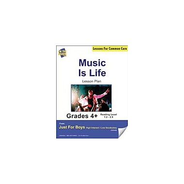 On The Mark Press Music Is Life (Non-Fiction, Report) Grade Level 2.3 Aligned to Common Core E-Lesson Plan Workbook [eBook]