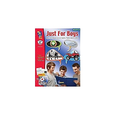 On The Mark Press Just For Boys, High Interest/Low Vocabulary Aligned to Common Core Workbook, Grade 4 - Grade 10 [eBook]