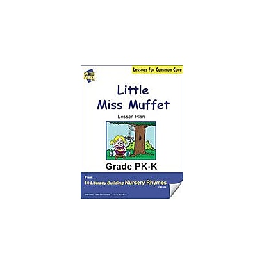 On The Mark Press Little Miss Muffet Literacy Building Nursery Rhyme Aligned to Common Core Workbook [eBook]