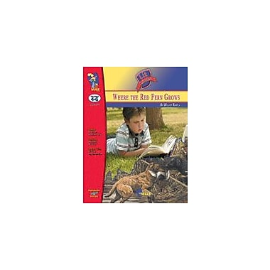 On The Mark Press Where the Red Fern Grows Lit Link Gr. 4-6: Novel Study Guide Language Arts Workbook, Grade 4 - Grade 6 [eBook]