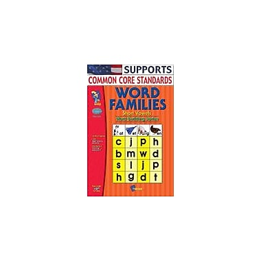 On The Mark Press Word Families Short Vowels Gr. 1-2 Language Arts Workbook, Grade 1 - Grade 2 [eBook]