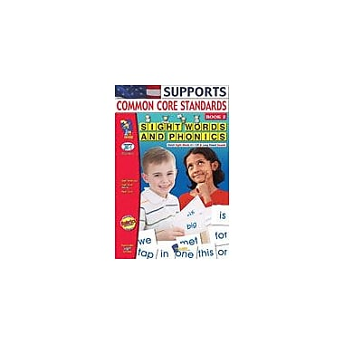 On The Mark Press Sight Words and Phonics Book 2 Reading & Writing Workbook, Kindergarten - Grade 1 [eBook]