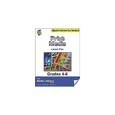 On The Mark Press Print Media Lesson Plan Social Studies Workbook, Grade 4 - Grade 6 [eBook]