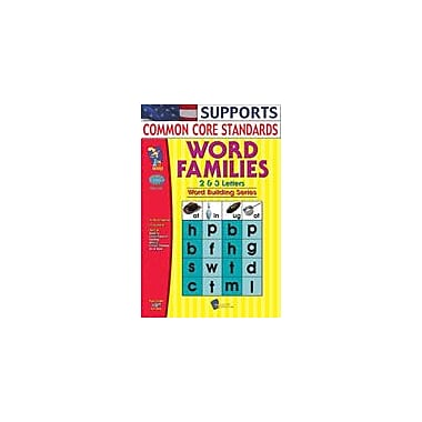 On The Mark Press Word Families 2, 3 Letter Words Language Arts Workbook, Grade 1 - Grade 3 [Enhanced eBook]