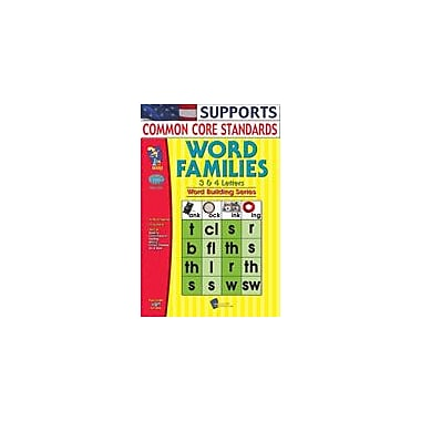 On The Mark Press Word Families 3, 4 Letter Words Language Arts Workbook, Grade 1 - Grade 3 [eBook]