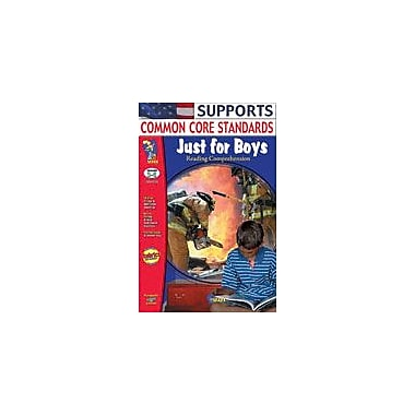 On The Mark Press Just For Boys Reading Comprehension Gr. 3-6 Language Arts Workbook, Grade 3 - Grade 6 [eBook]