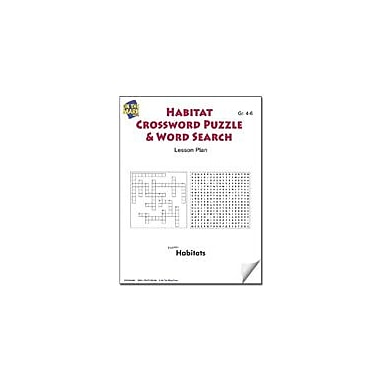 On The Mark Press Habitats Crossword Puzzle & Word Search Lesson Plan Science Workbook, Grade 4 - Grade 6 [eBook]