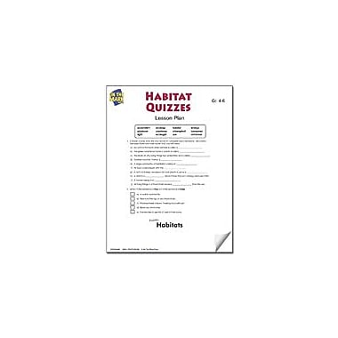 On The Mark Press Habitats Quizzes Lesson Plan Science Workbook, Grade 4 - Grade 6 [eBook]