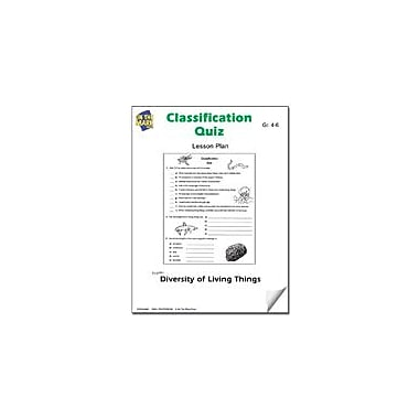 On The Mark Press Classification Quiz Lesson Plan Science Workbook, Grade 4 - Grade 6 [eBook]