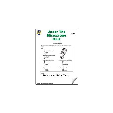 On The Mark Press Under the Microscope Quiz Lesson Plan Science Workbook, Grade 4 - Grade 6 [eBook]