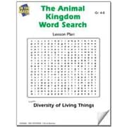 Image of: Laminated On The Mark Press The Animal Kingdom Word Search Lesson Plan Science Workbook Grade Grade ebook Staples On The Mark Press The Animal Kingdom Word Search Lesson Plan Science