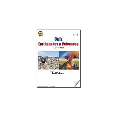 On The Mark Press Quiz Earthquakes and Volcanoes Lesson Plan Science Workbook, Grade 6 - Grade 8 [eBook]
