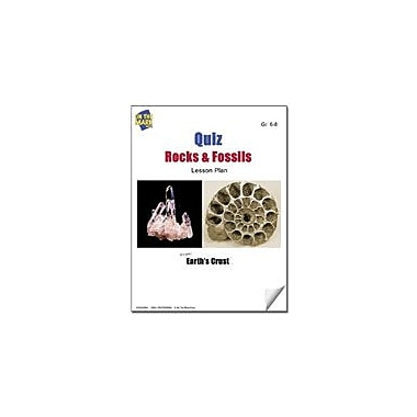 On The Mark Press Quiz Rocks and Fossils Lesson Plan Science Workbook, Grade 6 - Grade 8 [eBook]
