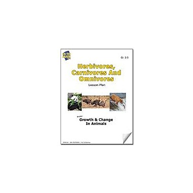 On The Mark Press Herbivores, Carnivores and Omnivores Lesson Plan Science Workbook, Grade 2 - Grade 3 [eBook]