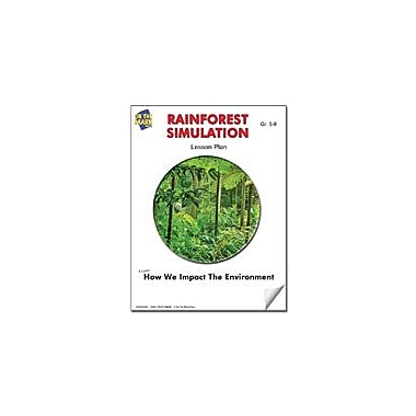 On The Mark Press Rainforest Simulation Lesson Plan Science Workbook, Grade 5 - Grade 6 [eBook]