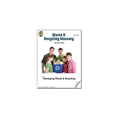 On The Mark Press Waste & Recycling Glossary Lesson Plan Science Workbook, Grade 5 - Grade 8 [eBook]