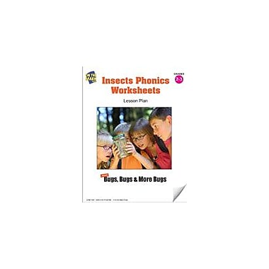 On The Mark Press Insects Phonics Worksheets Lesson Plan Science Workbook, Grade 2 - Grade 3 [eBook]