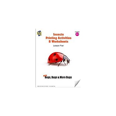 On The Mark Press Insects Printing Activities and Worksheets Lesson Plan Science Workbook, Grade 2 - Grade 3 [eBook]
