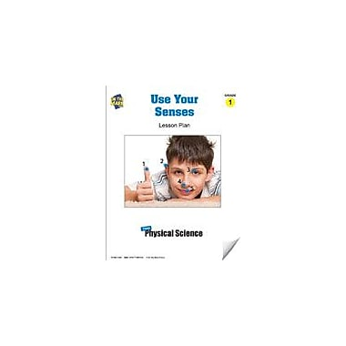 On The Mark Press Use Your Senses Lesson Plan Science Workbook, Grade 1 [eBook]