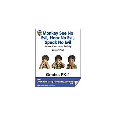 On The Mark Press Monkey See No Evil, Hear No Evil, Speak No Evil Lesson Plan Workbook, Kindergarten - Grade 8 [eBook]